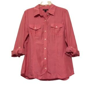 Banana Republic Silk Long Sleeved Blouse